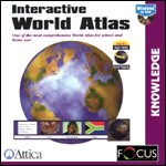 Interactive World Atlas PC CDROM software